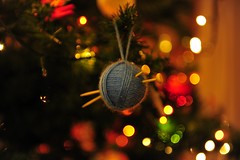 Christmas greetings from Athens (sifis) Tags: christmas wool nikon knitting knit athens yarn greece greetings 270 handknitting sakalak d700
