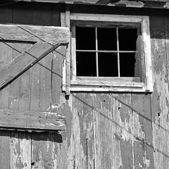 2012-337 (12Jeepgirl~Never look back...) Tags: bw abandoned barn rural square blackwhite nikon farm iowa forgotten d300 silverefexpro2