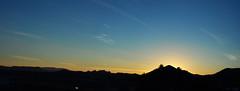 az panorama (Le.Sanchez) Tags: blue light sunset arizona sky panorama usa mountain mountains southwest color colors digital america landscape nikon tucson
