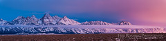 Teton Dawn Panorama (Free Roaming Photography) Tags: morning winter light panorama usa cloud mountain snow mountains cold west fog clouds sunrise dawn nationalpark cloudy foggy peak panoramic western northamerica wyoming peaks teton tetons grandteton jacksonhole grandtetonnationalpark teewinot antelopeflats tetonglacier