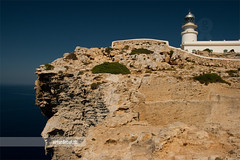 Cavalleria lighthouse (arturii!) Tags: trip travel blue sea summer sky cliff sun lighthouse house seascape hot building water beauty rock stone architecture wow landscape faro island amazing nice construction holidays europa europe day tour superb awesome horizon great north sunny route heat stunning viatge far impressive menorca gettyimages minorca mediterrenean balearicislands illesbalears interetsing canonoes400d arturii arturdebattk