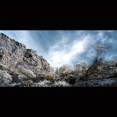 (G i a c o m o - M a c i s) Tags: clouds landscape ir rocks canoneos20d infrared desolation villacidro