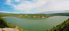 Devils Lake (ckole11) Tags: summer panorama mountain lake nature water wisconsin nikon devils devilslake
