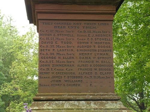 Civil War Memorial - Inscriptions [1]