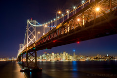 Glitz and Glitter (Jim Patterson Photography) Tags: sanfrancisco california city travel sunset beautiful night bay central scenic baybridge bayarea metropolis holidaylights jimpattersonphotography jimpattersonphotographycom seatosummitworkshops seatosummitworkshopscom