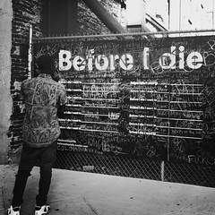 Before I Die (Joel Levin Photography) Tags: street urban blackandwhite bw usa philadelphia square candid streetphotography photojournalism squareformat philly allrightsreserved iphone photojournalistic fdrpark mobilephotography flickraward iphone4 bwartaward thedefiningtouch thedefiningtouchgroup iphoneography deftouch editedanduploadedoniphone flickrawardgallery joellevin definingtouchgroup uploaded:by=flickrmobile flickriosapp:filter=nofilter
