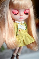 *OOAK NO.35---Mina * (* MeiMei * commission list closed) Tags: bear socks dress handmade embroidery helmet mamas tiny blythe custom dyed meimei scalp rbi