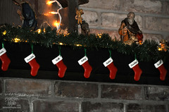 Christmas12-146 (TrishaLyn) Tags: christmas stockings oregon fireplace holidays elmira ornaments christmasdecorations holidaydecorations nativity mantle holidaydecor nativityscene