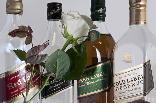 Johnnie Walker Red Label, Black Label, Green Label & Gold Label Reserve