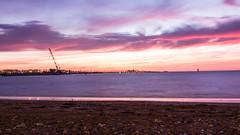Coucher de soleil sur la Plage de la Concurrence, La Rochelle (raphael.chekroun) Tags: ocean longexposure sun