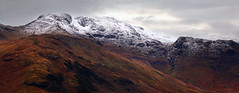Bow Fell (Paul Newcombe) Tags: uk winter england mountain snow mountains landscape countryside nationalpark december lakes lakedistrict telephoto cumbria fells british canon70200f4l langdales longlens bowfell cumbrian britnatparks fromsidepike