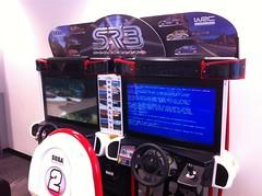 Blue Screen of Death on a Sega arcade game (Sweet One) Tags: airport message error bluescreenofdeath australia melbourne victoria videogame avalon