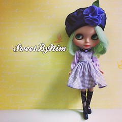 Wish you have a wonderful weekend. #sweetbynim #blythe #blythedoll #dolldress #dollphotography (Sweet-by-Nim) Tags: square squareformat iphoneography instagramapp uploaded:by=instagram