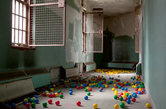 The Ball Pit (Subversive Photography) Tags: windows usa ballpit colour abandoned strange america hospital us corridor balls atmosphere urbanexploration asylum subversive urbex danielbarter