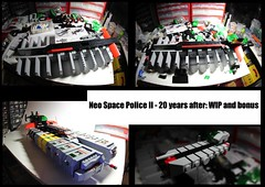 Neo Space Police II spaceship: WIP and bonus (olivgrau) Tags: lego space police wip spaceship neo minifig moc afol