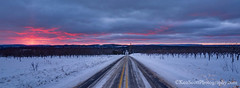 Manitou Passage ... sunset 1-1-13 (Ken Scott) Tags: winter sunset panorama usa snow