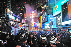 New Year Celebration at Times Square ! (Tony Shi.) Tags: times square sq new years year eve balldrop drop ball 2013 2012 nye nyc york city tsq celebration concert recent squares countdown count down crowd crowded kiss madness chaos atmosphere kissing