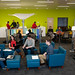 Open spaces encourage collaboration at Hunt Library.
