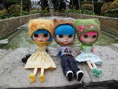 Mis gemelas con la niña de Ana