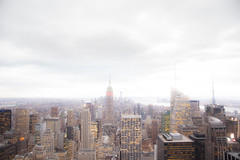 New York -3 C (Fadi Asmar ^AKA^ Piax) Tags: city nyc sunset urban usa newyork building rock island lights skyscrapers state top manhattan foggy center midtown highrise northamerica density dense populated rocefeller emprire topwers