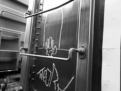 theory + the ghouls (bearded wagon) Tags: southwest west art train bench streak south az boxcar streaks hobo freight tankers trackside streakers reefers markal monikers moniker meanstreaks benched 1312 benchers