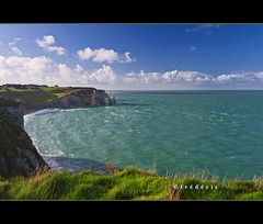 Etretat view on the sea, cliffs and the needle - Explore (lathuy) Tags: sea mer seascape france cliffs explore needle normandie paysage normandy falaise calvados etretat falaises explored aiguillecreuse