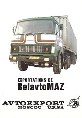 Minsk Made MAZ Truck (Hugo-90) Tags: truck ads advertising ukraine soviet brochure minsk maz belautomaz