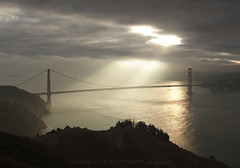 Break Away (Andrew Louie Photography) Tags: world ocean life bridge sea sun coffee fog breakfast clouds canon golden bay haze gate san francisco heaven moody quiet peace dream beam passion land dreamy serene rays drama epic tranquil