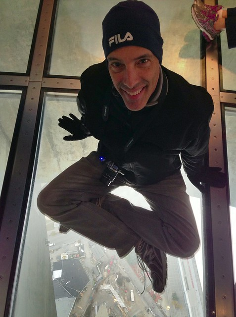 CN Tower Sitting on the glass floor