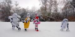 Snow Patrol (S Cansfield) Tags: white snow trooper toy star nikon doll d70s r2d2 stormtrooper shock wars figures patrol spacetrooper trooper2