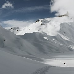 Col de Fnestral (Ajy Tojen) Tags: shadow snow ski mountains alps landscape switzerland swiss touring valais ovronnaz peaudephoque squarephotography coldefnestral