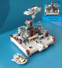 Deployment Island (Multihawk) Tags: scale island robot ship lego military mini scene future fi nano base diorama sci deployment mech warfare microscale