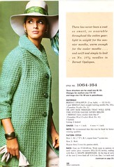 Bernat Green Coat (jsbuttons) Tags: fashion vintage clothing knitting buttons coat knit clothes vintageclothing