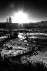 Farm living (JarrodLopiccolo) Tags: ranch winter sun snow fence river hdr