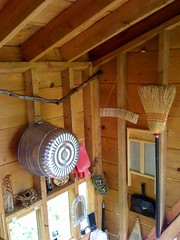 Linda Aldredge: Supplies (Heath & the B.L.T. boys) Tags: bucket cabin branch nest shelves