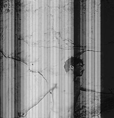 a forest (William Keckler) Tags: blackandwhite male men rock collage forest darkness 19thcentury network veins arteries malenude disappearance disappear darkphoto verticals torsenu disappearing gloeden vongloeden baronvongloeden