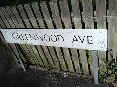 Greenwood Avenue, Acocks Green - road sign