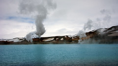 in the realm of Gaia's powers (lunaryuna) Tags: lake iceland highlands steam lunaryuna geothermalactivity volcanicarea hotsteam earthpower myvatnregion centralnorthiceland volcanicmactivity