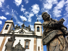 Congonhas' Basilica and Aleijadinho's prophet (Lima Andruka) Tags: brazil minasgerais church basilica colonialarchitecture congonhas ezekiel aleijadinho braziliansculpture twelveprophets