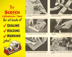 Tricks with Tape (File Photo Digital Archive) Tags: 1950s 1950 50s advertising vintage 3m text sign cartoon