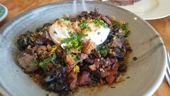 Rio Calling feijoada of black beans, pork shoulder, lardons, poached eggs - The General Food Store, Emerald - sxz3 (avlxyz) Tags: fb4 feijoada blackbeans pangrattato lardons chorizo porkshoulder poachedeggs cassoulet