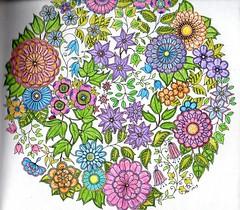 Secret Garden - 001 (ronniesz) Tags: zentangleinspiredart adultcoloring derwentinktensepencils finelinecoloredpens prismacolorpencils patterns penandink nature flowers whimsy