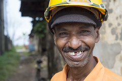 Happy chappy (Photosightfaces) Tags: happy grinning smiling cheery smile missingtooth missingteeth man portrait sri lanka lankan hardhat galle srilankan srilanka grin