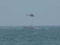 Helicopter Maneouvre (Thomas Kelly 48) Tags: panasonic lumix fz150 canada ontario cobourg coastguard helicopter