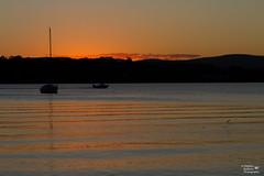 IMG_2970 - Elebanna Sunset (Stephen Baldwin Photography) Tags: lake macquarie sunset landscape elebanna yatch boats fish jumping water hills clouds