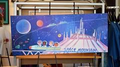 Disneyland Visit - 2016-08-28 - Downtown Disney - WonderGround Gallery - Space Mountain by Joey Chou (drj1828) Tags: us disneyland dlr 2016 visit downtowndisney dtd wondergroundgallery artwork art