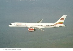 Postcard: AIR 2000 [Boeing 757-200] (tubular60) Tags: air2000 postcard airline