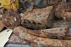 rotting body parts (davocano) Tags: rusty rusting rust abandoned exhumed brooklands