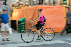 Norco rider on Sussex (Dan Dewan) Tags: dandewan bicycle canon7dmarkii street 2016 september colour cyclist ottawa sunday motion woman photographist summer panning ef100mmf28lmacroisusm canon lady