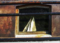 Marine (chando*) Tags: barge boat decay fentre hublot maquette model porthole pniche ronquires rouille rust sailingboat voilier window